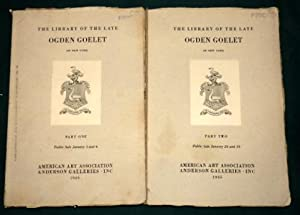 The Library Of The Late Ogden Goelet of New York. 2 volumes (With Prices). January 3rd/4th & Jan ...
