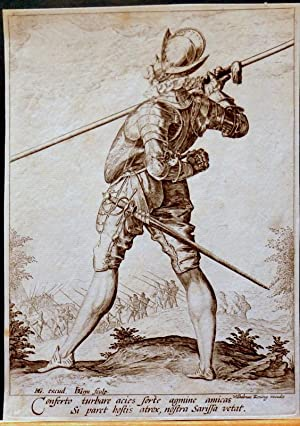 Soldier or Pikeman. Copper engraving