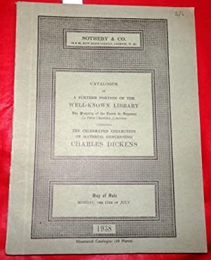 Sotheby & Co Catalogue; A Further Portion of the WELL KNOWN LIBRARY. The Property of the Comte de...