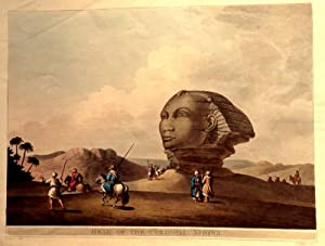 Head Of The Colossal Sphinx. [Hand-Coloured Aquatint]