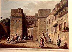 Gate Of Grand Cairo. Arabic/Egyptian Architecture. [Hand-Coloured Aquatint]