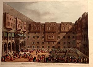 Mamalukes Exercising In The Square Of Murad Bey's Palace. [Hand-Coloured Aquatint]