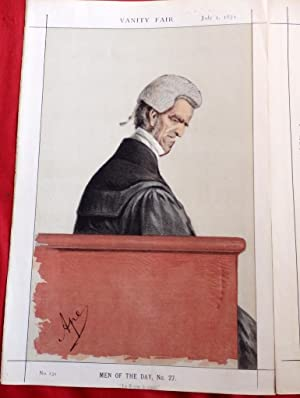 Sir John George Shaw-Lefevre. Barrister & Queen Victoria's equerry. Vanity Fair Lithograph July 1...