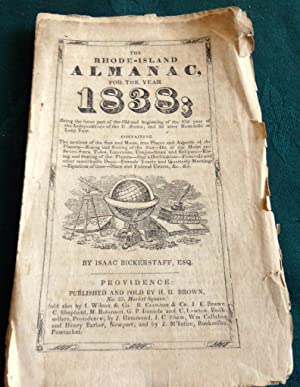 The Rhode-Island Almanac For 1838 62nd/63rd year of the Independence of the USA.