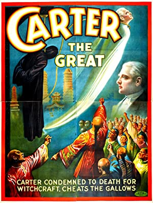 Magician Theatre Poster. CARTER The GREAT. 4: CARTER: (Charles Joseph