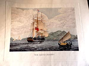 Sir David Scott. Capt D.I. Ward, at the Entrance of the Straights of Sunda Feby 1830. British Nav...