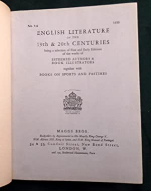 Catalogue No 531. 1930. English Literature of the 19th & 20th Centuries, with books on Sports and...
