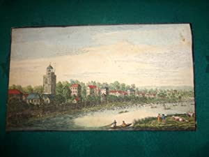 Mortlack (Mortlake) The Thames View. c1750