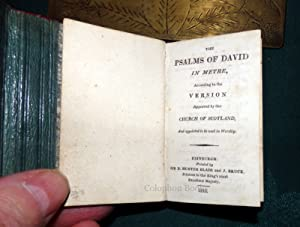 The Psalms Of David In Metre According To The Version Approved By The Church Of Scotland. Miniatu...