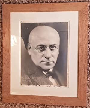 Portrait de Max Jacob. Photographie originale signée 39X 29 cm).