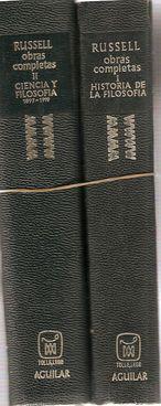 OBRAS COMPLETAS. TOMO I. HISTORIA DE LA FILOSOFÍA. TOMO II. CIENCIA Y FILOSOFÍA 1897-...