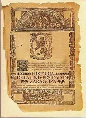 HISTORIA DE LA UNIVERSIDAD DE ZARAGOZA: UBIETO ARTETA, Antonio