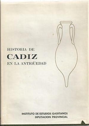 HISTORIA DE CÁDIZ EN LA ANTIGÜEDAD: JIMÉNEZ CISNEROS, Mª Josefa