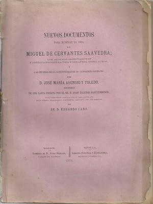 NUEVOS DOCUMENTOS PARA ILUSTRAR LA VIDA DE MIGUEL DE CERVANTES CON ALGUNAS OBSERVACIONES Y ...