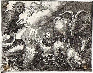 Ovejas y pastores: Grabador: Bloemaert, Abraham,