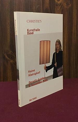 Keine Kleinigkeit: Benefiz-Auktion (Kunsthalle Basel 58): Francois Curiel