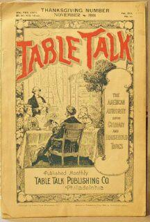 Table Talk (Magazine), November 1901