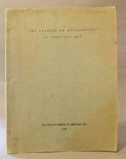 Problem of Authenticity in American Art: Goodrich, Lloyd