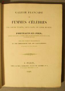 Galerie Francaise De Femmes Celebres Par Talens, Leur Rang or Leur Beaute: Lante, Louis Marie; ...