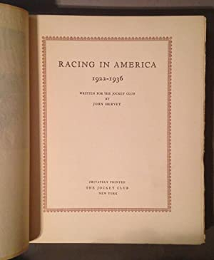 Racing in America 1922-1936: Hervey, John