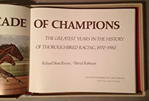 Decade of Champions: Reeves, Richard Stone; Robinson, Patrick