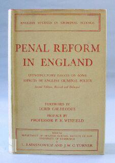 Penal Reform in England: Introductory Essays on Some Aspects of English Criminal Policy: ...