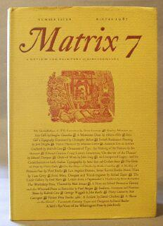 Matrix 7: A Review for printers & Bibliophiles (Winter 1987): Randle, John and Rosalind (...