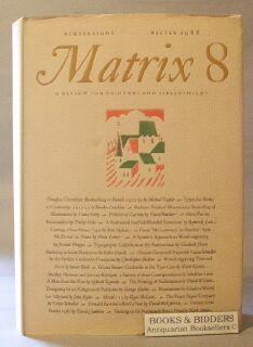Matrix 8: A Review for printers and Bibliophiles (Winter 1988): Randle, John and Rosalind Randle (...