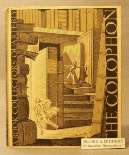 Colophon: A Book Collector's Quarterly, Part Six: Adler, Elmer (editor)