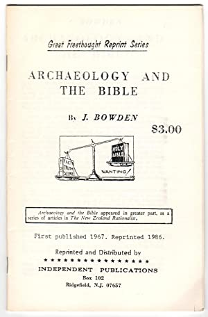 ARCHAEOLOGY AND THE BIBLE Great Freethought Reprint Series (Archeology)