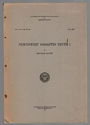 NORTHWEST SAHAPTIN TEXTS, 1 Publications in Anthropology Vol. 2, No. 6, pp. 175-244