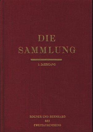 Die Sammlung. Literarische Monatsschrift unter dem Patronat: Mann, Klaus (Hg.):