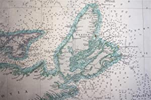 Admiralty Chart: St. Johns Newfoundland to Halifax with the Outer Banks. (Large 1861 map, showing...