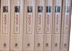 Obras completas (7 vols.).: AZAÑA, Manuel.-