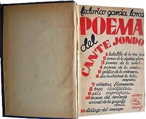 Poema del cante jondo.: GARCÍA LORCA, Federico.-