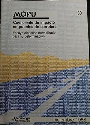 MOPU. COEFICIENTE DE IMPACTO EN PUENTES DE
