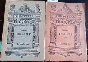 LA MATERIA BRUTA Y LA MATERIA VIVA.: DELBOEUF, J.