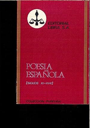 POESIA ESPAÑOLA (SIGLOS XI - XVII): VARIOS