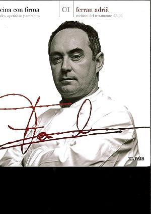 Cocina con firma cocteles aperitivos y entrantes: Ferran Adria