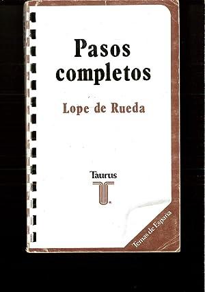 Pasos completos (Temas de España): Lope de Rueda