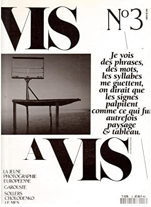 VIS A VIS INTERNATIONAL N°3 - La jeune photo européenne; Garouste; Sollers; Chodolenko; Le Men; O...