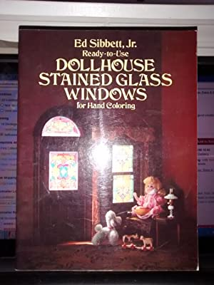 READY TO USE DOLLHOUSE STAINED GLASS WINDOWS FOR HAND COLORING
