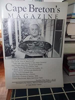 CAPE BRETON'S MAGAZINE Devoted to the History,: EDITED BY RONALD