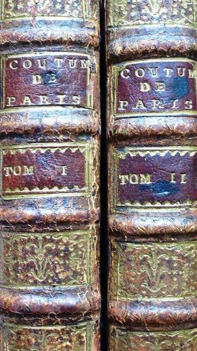 Coutumes de la Prevosté et Vicomté de Paris. Nouvelle Edition.: DU MOLIN