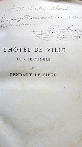 L'Hôtel de Ville au 4 septembre et pendant le Siège, réponse à M.le...