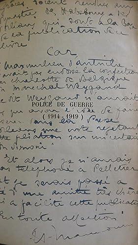 Police de guerre (1914-1919): MAUNOURY (Henry)