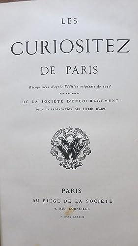 Les curiositez de Paris réimprimées d'après l'édition ...