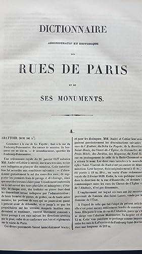 Dictionnaire administratif et historique des rues de Paris et de ses monuments: LAZARE (F�lix et ...