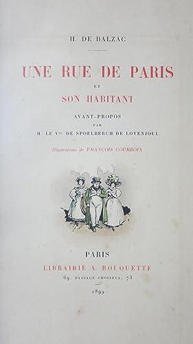 Une rue de Paris et son habitant. Avant propos par M.de Spoelberch de Lovenjoul.: BALZAC (Honor� de...