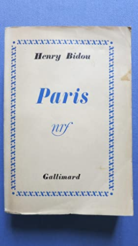 Paris: BIDOU (Henry)